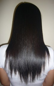 straighten hair heat