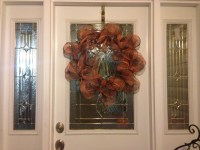 Holiday Wreath Art deco mesh: any color or design, Metal ...