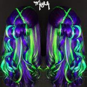 glow in dark rainbow hair