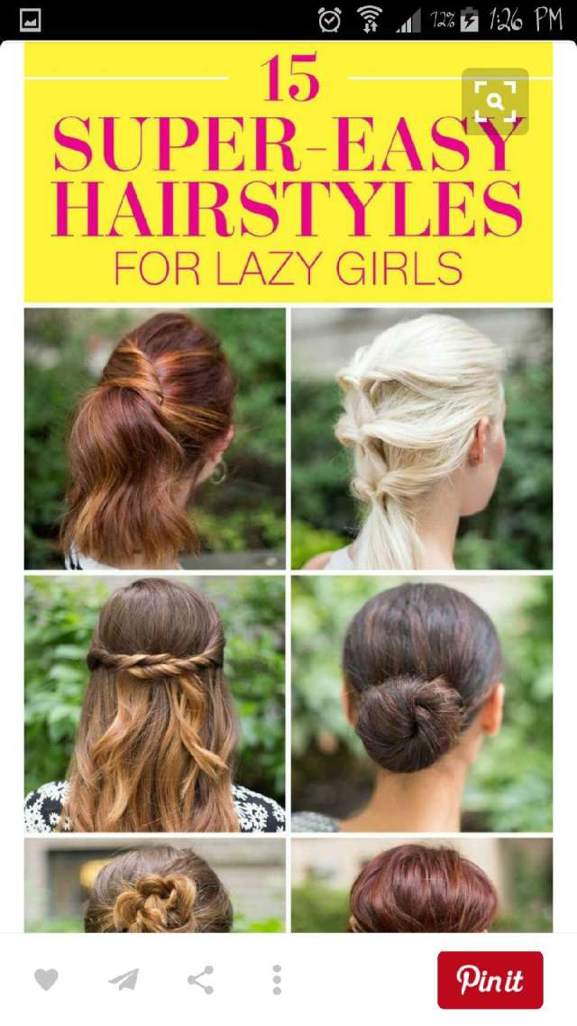 15 super easy hairstyles for lazy girls! by leaisabella