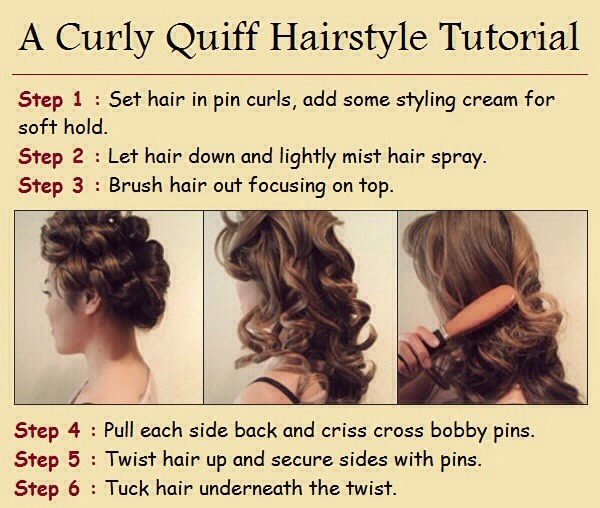 Curly Quiff Hairstyle Tutorial  Gorgeous by Lindsey Holmes  Musely