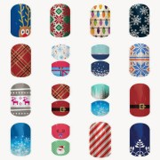 christmas jamberry nail design