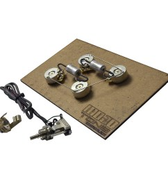 pre wired les paul long shaft wiring kit item j57163004000000 [ 1000 x 1000 Pixel ]