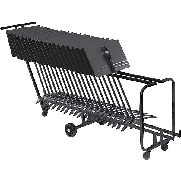 manhasset music stand storage cart holds 25
