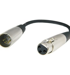 hosa 5 pin male xlr to 3 pin female xlr dmx 512 adaptor cable 6 in  [ 1000 x 1000 Pixel ]