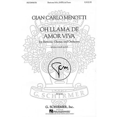 G. Schirmer Oh llama de amor viva (SSAATTBB Chorus and