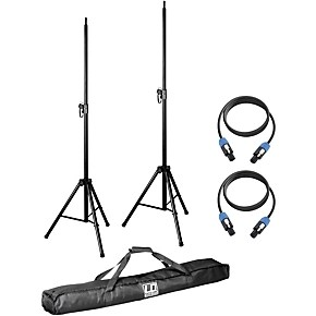 LD Systems Pair of Speaker Stands with Carry Bag and 2