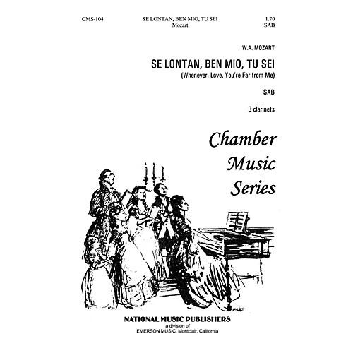 Hal Leonard Se Lontan Den Mio Tu Sei SAB composed by