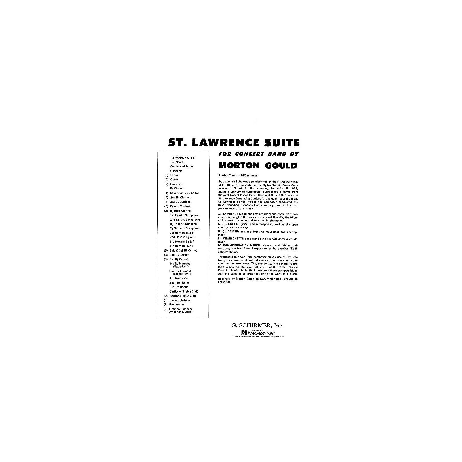 G. Schirmer St. Lawrence Suite (Full Score) Concert Band