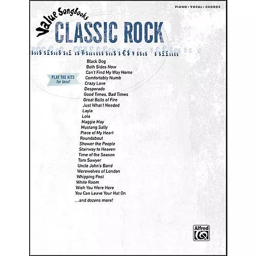 Hal Leonard Value Songbooks Classic Rock Piano/Vocal