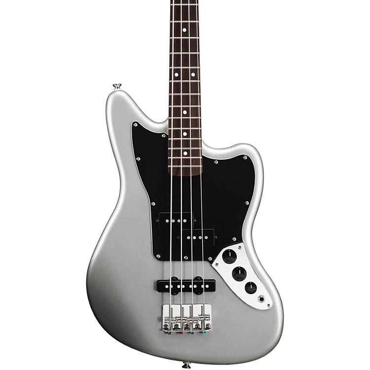 Squier Vintage Modified Jaguar Bass Special SS (Short Scale) Rosewood Fretboard Silver | Musician's Friend