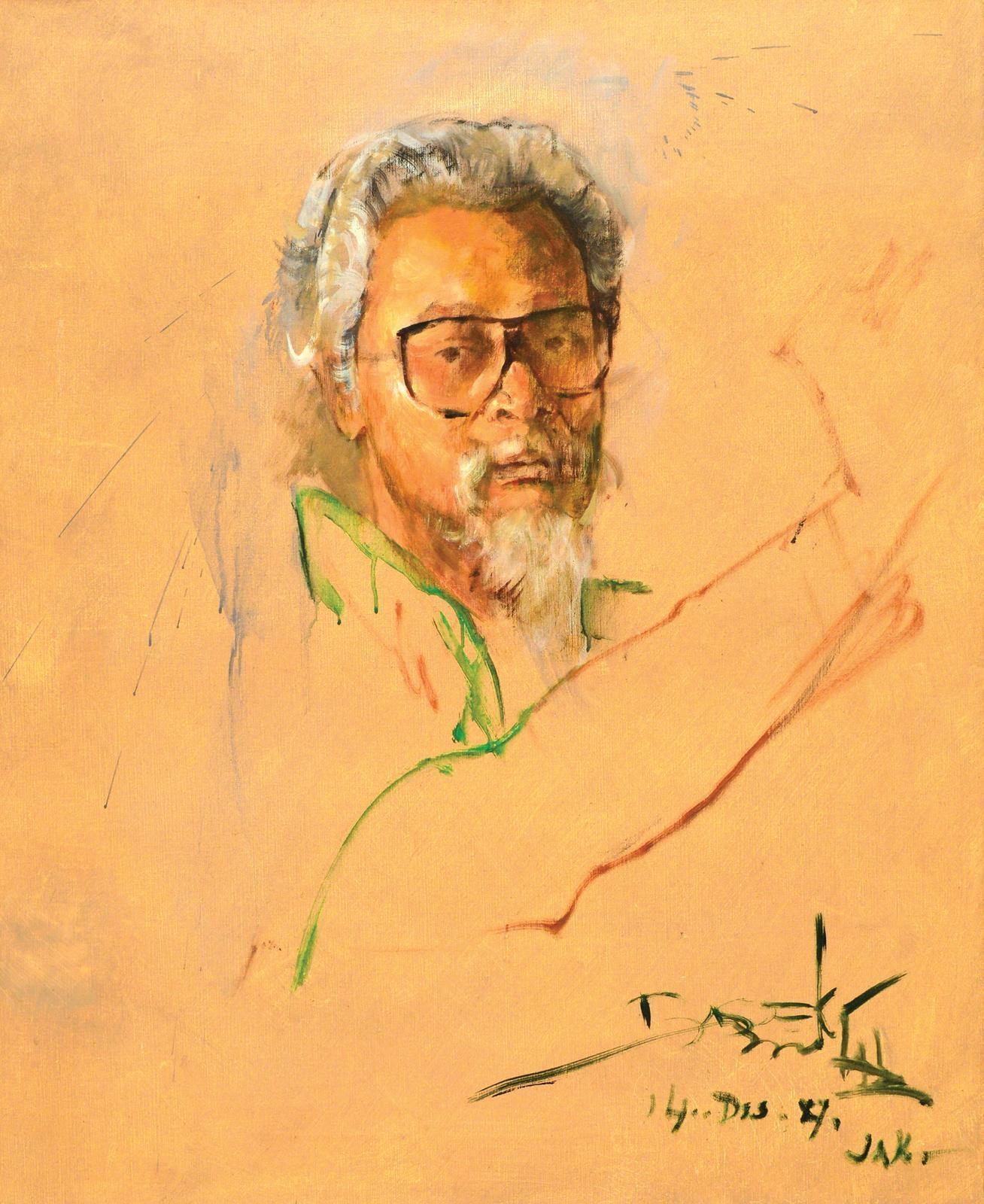 Bagong Kusudiarjo : bagong, kusudiarjo, Abdullah, Basoeki, Potret, Bagong, Kussudiardja, (1987), MutualArt