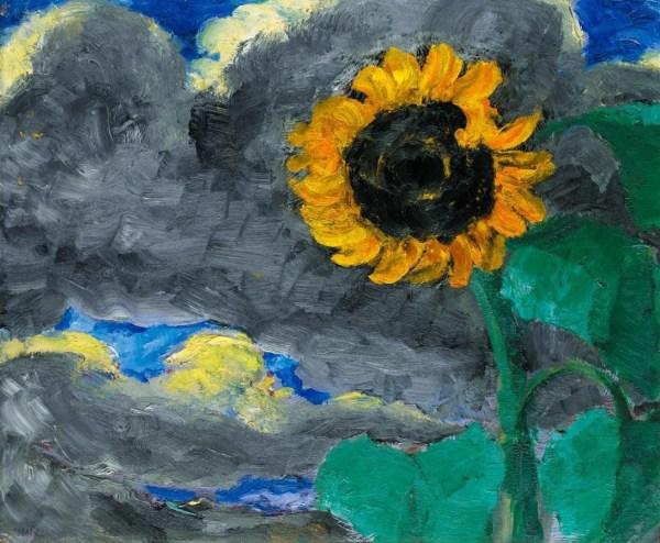 Emil Nolde - Sonnenblume Sunflower Oil Panel