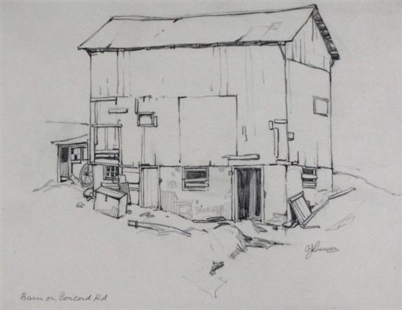 Alfred Joseph Casson BARN ON CONCORD RD Circa 1928