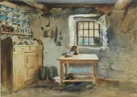 Haynes-Williams John | Interior of Old Welsh Cottage ...