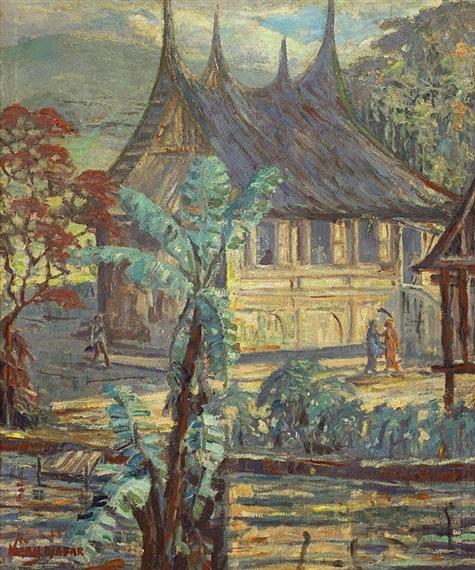 Lukisan Rumah Adat : lukisan, rumah, Hasan, Djaafar, Rumah, MutualArt