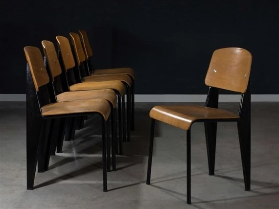 chair cba steel urban outfitters chairs prouve jean suite de six chaises mod metropole n 305 dites artwork by