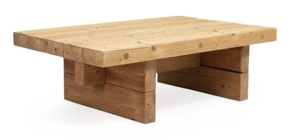 anton dam a solid pine coffee table