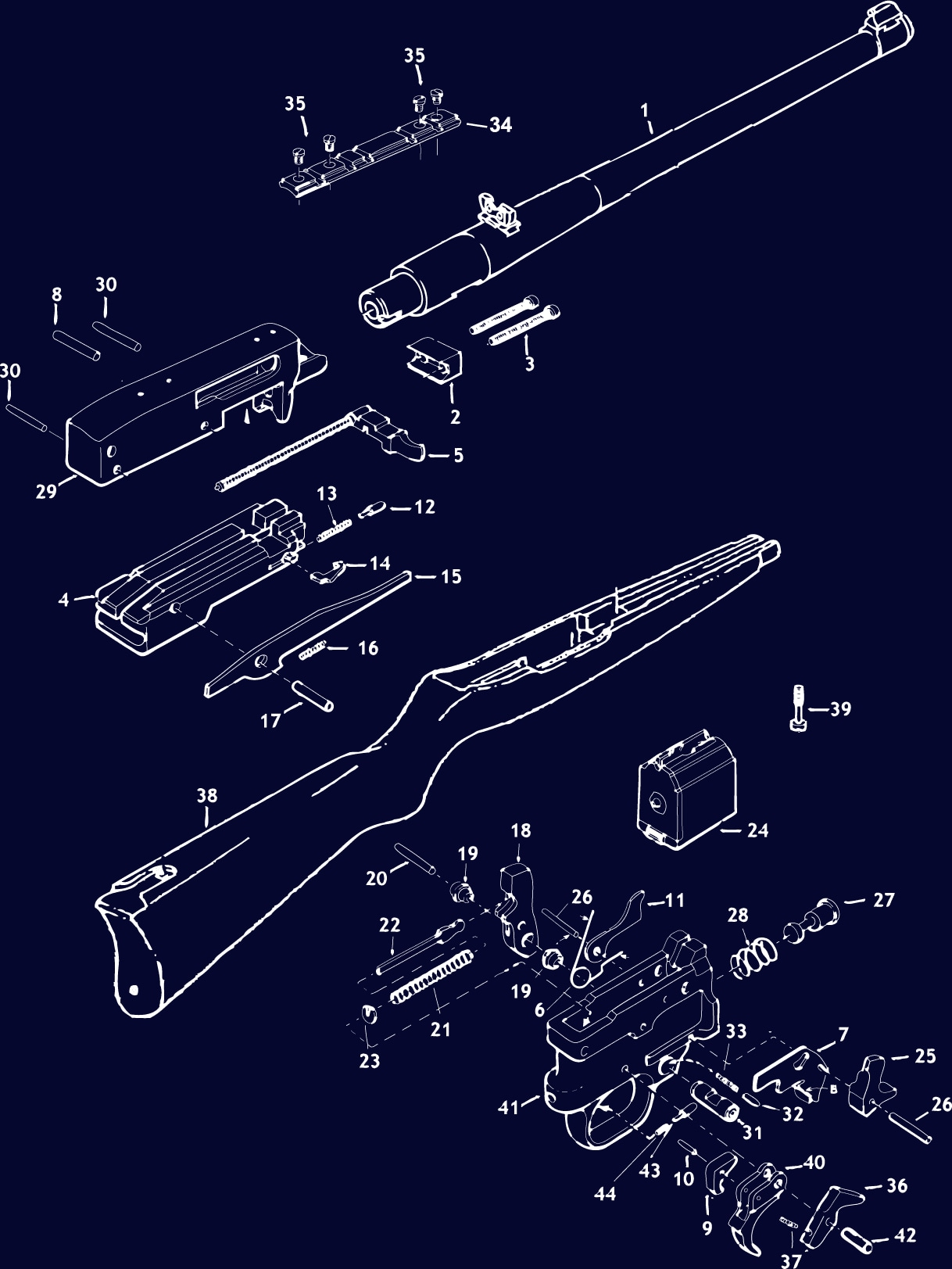 hight resolution of  ruger 10 22 schematic