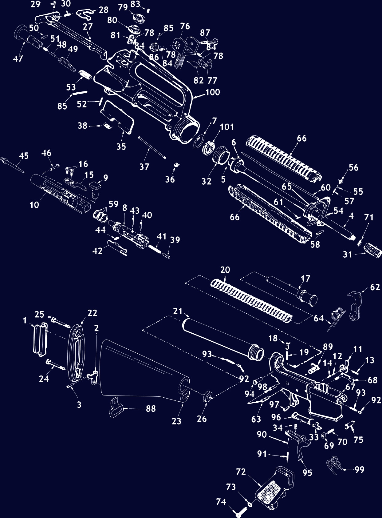 hight resolution of click a part ar 15 gun schematic