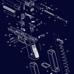 Glock 22 Exploded Diagram Auto Wiring System Pistol Schematic Exploaded Gun Diagrams Parts Midwayusa Click A Part