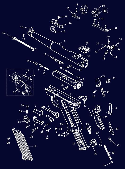 ruger pistol parts diagram basic alternator wiring mark 2 schematic gun diagrams midwayusa