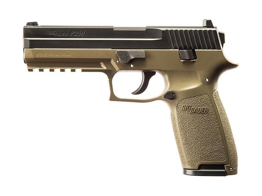 Sig Sauer P250 Air Pistol 177 Cal Pellet Olive - UPC: 798681525935