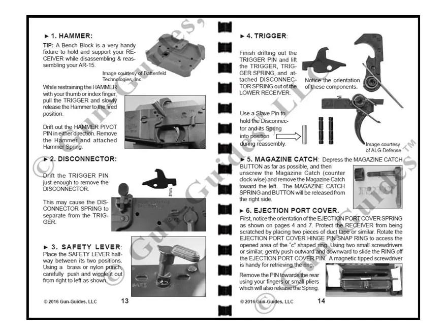 Gun Guides Takedown Guide AR-15 Modern Sporting Rifle