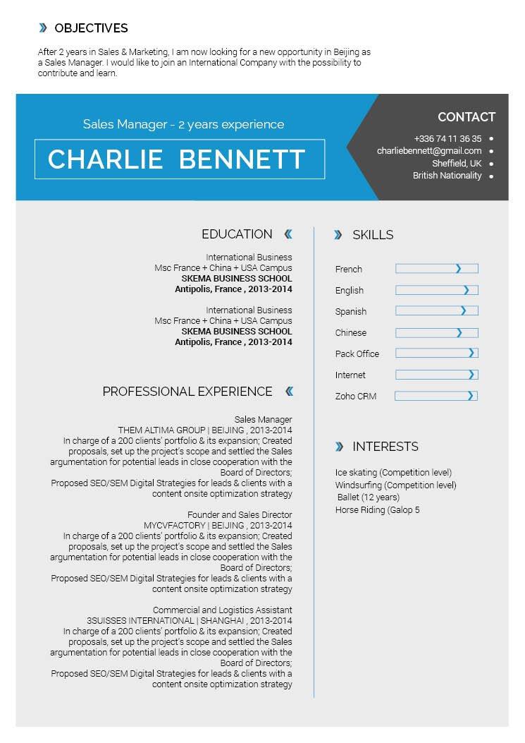 professional CV| Fashionable Resume · myCVfactory