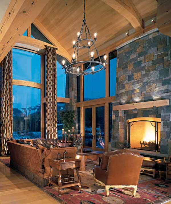 rustic lighting for timber frame homes