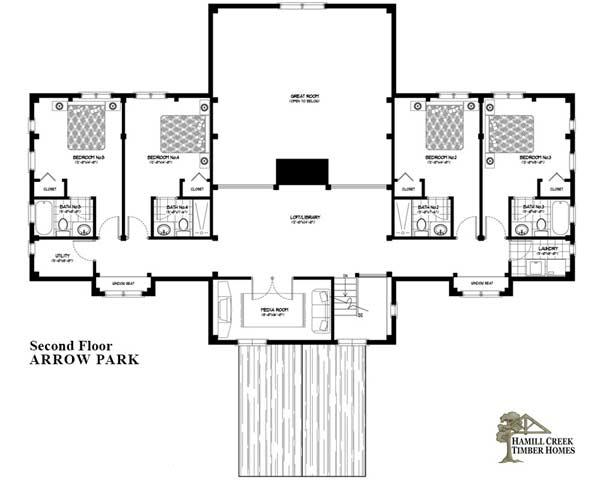 Hamill Creek Timber Homes: Arrow Park Home Plan