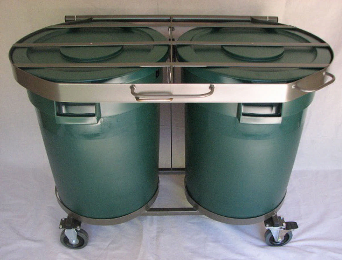 hide away trash bin kitchen used mobile kitchens for sale animal-proof your