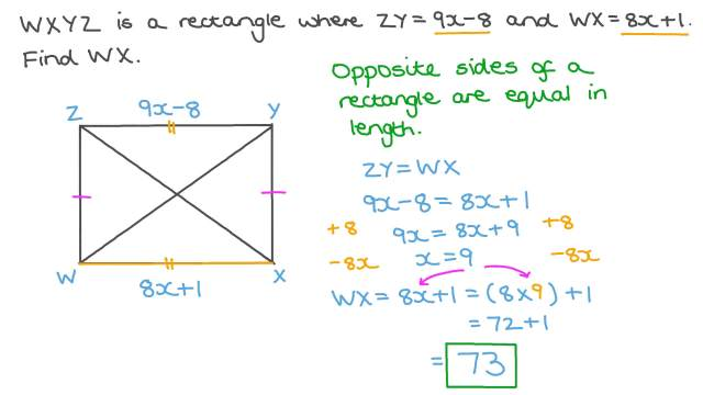 Finding the Length of a Rectangle given a Relation between Its Dimensions