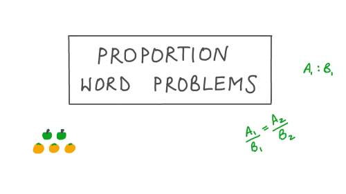 small resolution of Lesson: Proportion Word Problems   Nagwa