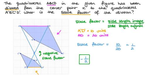 small resolution of Question Video: Using Properties of Dilations or Enlargements to Identify a  Scale Factor   Nagwa