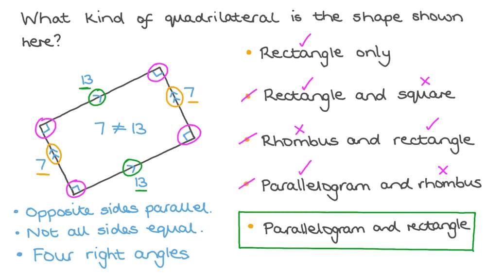 medium resolution of Question Video: Classifying Quadrilaterals   Nagwa