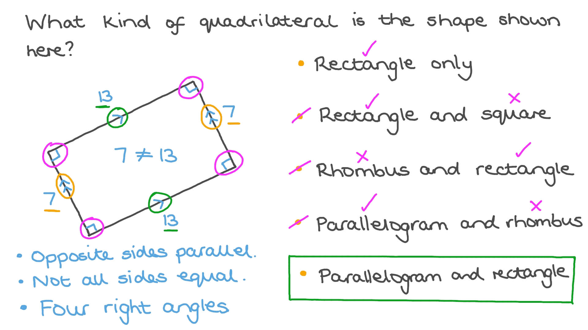 hight resolution of Question Video: Classifying Quadrilaterals   Nagwa