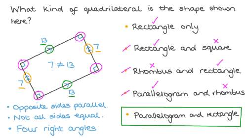 small resolution of Question Video: Classifying Quadrilaterals   Nagwa