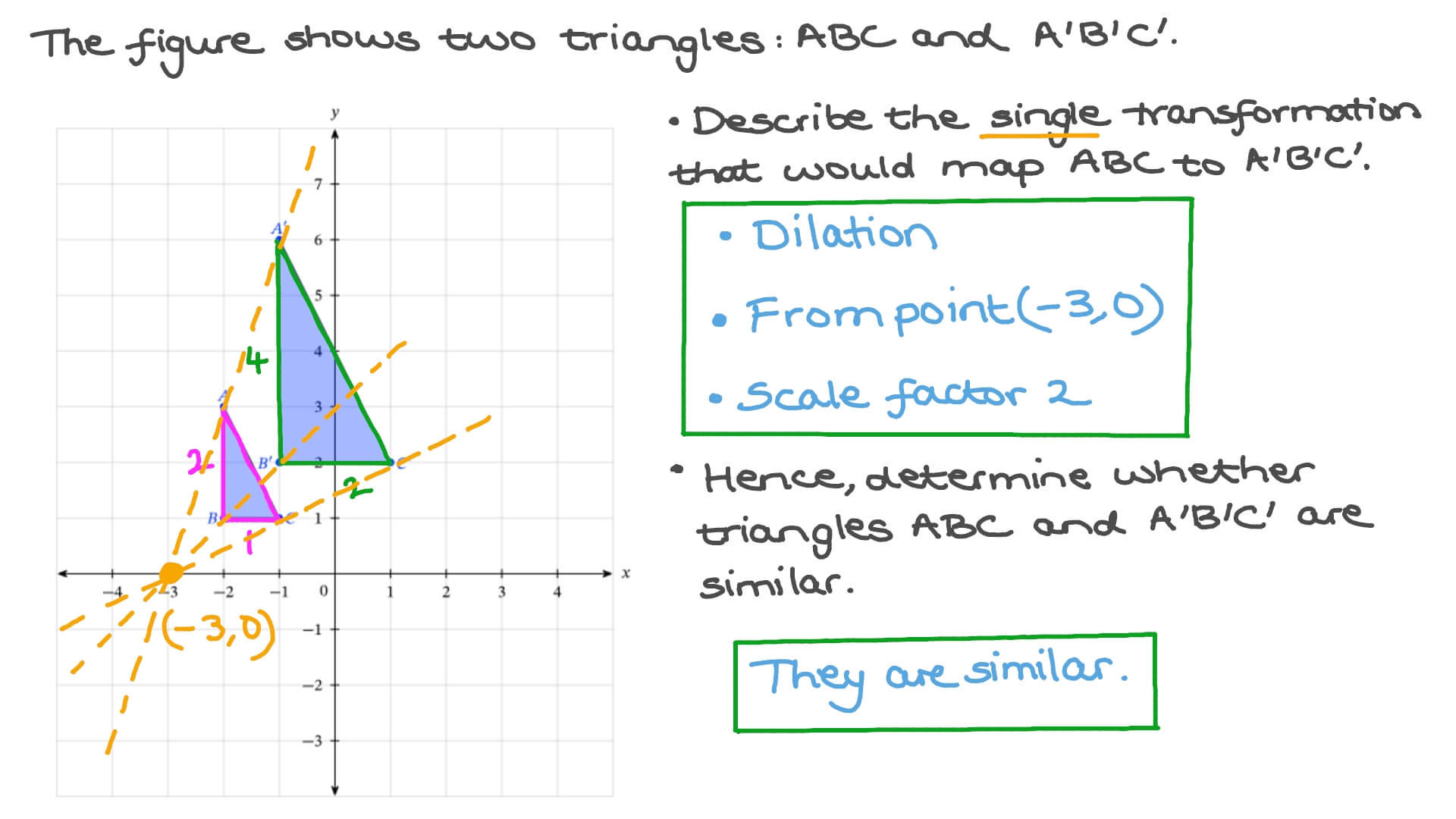 hight resolution of Question Video: Determining Whether Two Shapes are Similar   Nagwa