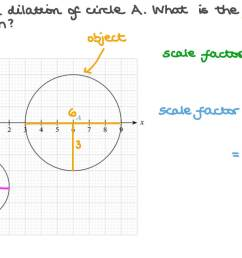 Question Video: Finding the Scale Factor of a Dilation between Two Circles    Nagwa [ 756 x 1344 Pixel ]