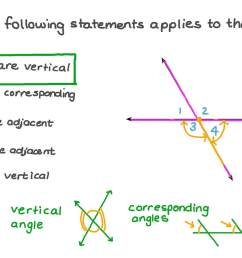 Question Video: Finding the Relation between Two given Angles Based on  Their Positions   Nagwa [ 756 x 1344 Pixel ]