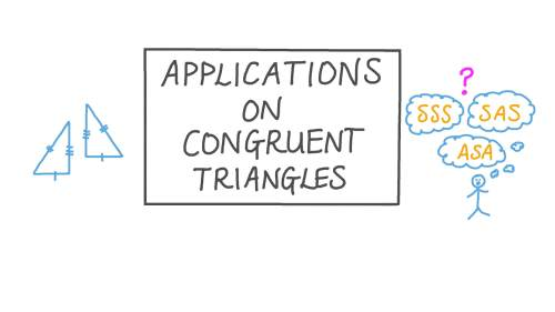 small resolution of Lesson: Applications of Triangle Congruence   Nagwa
