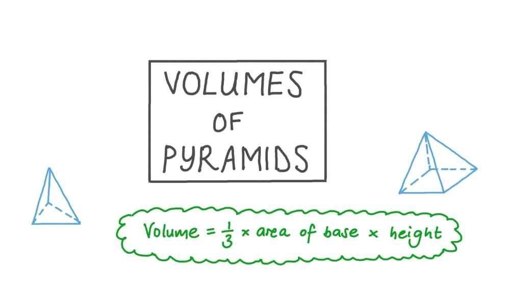medium resolution of Lesson: Volumes of Triangular and Quadrilateral Pyramids   Nagwa