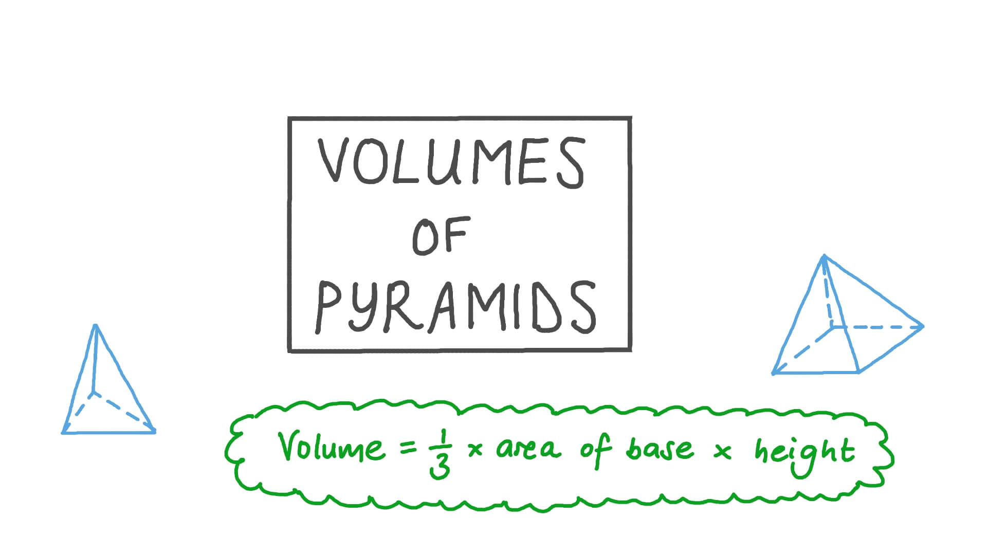 hight resolution of Lesson: Volumes of Triangular and Quadrilateral Pyramids   Nagwa
