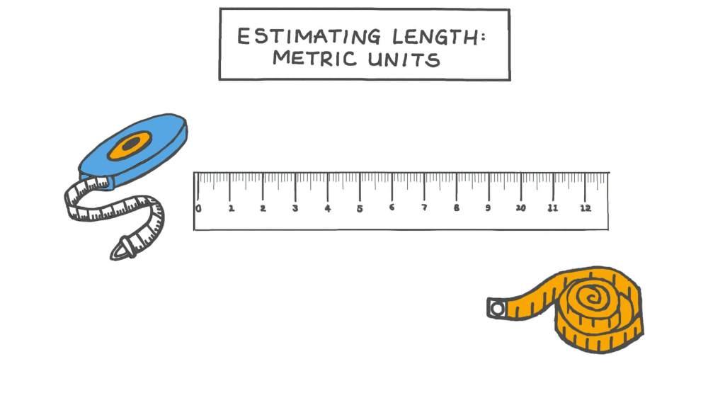medium resolution of Lesson Video: Estimating Length: Metric Units   Nagwa