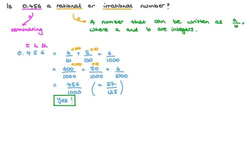 small resolution of Question Video: Rational and Irrational Numbers   Nagwa