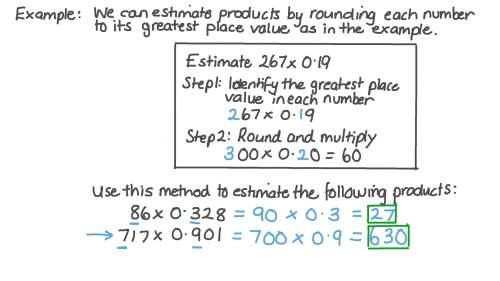 small resolution of Lesson: Estimating Products: Decimals by Whole Numbers   Nagwa