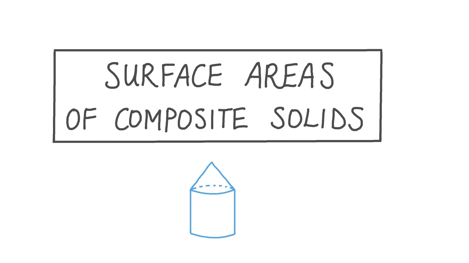 hight resolution of Lesson: Surface Areas of Composite Solids   Nagwa