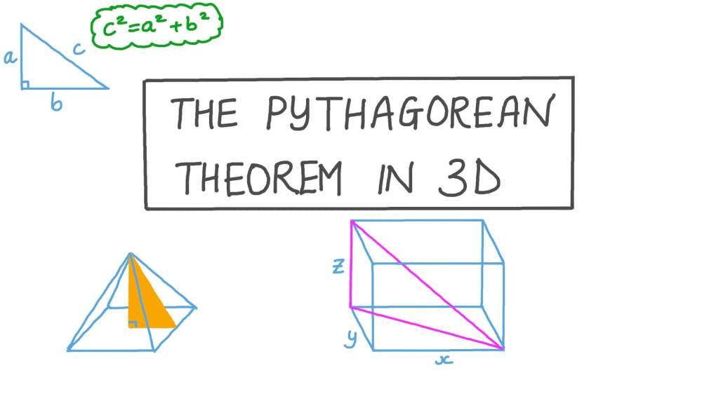 medium resolution of Lesson: The Pythagorean Theorem in 3D   Nagwa