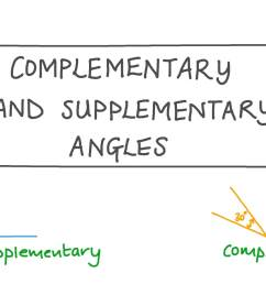 Lesson: Complementary and Supplementary Angles   Nagwa [ 756 x 1344 Pixel ]